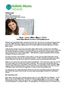 Meet Holistic Mom Mayim Bialik Meet Holistic Mom Mayim Bialik