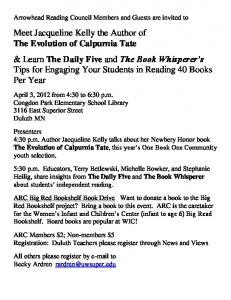 Meet Jacqueline Kelly the Author of The Evolution of Calpurnia Tate ...