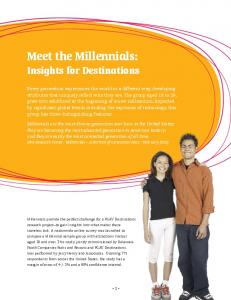 Meet the Millennials: - PGAV Destinations
