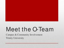 Meet the O-Team (PDF)