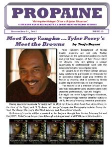 Meet Tony Vaughn ...Tyler Perry's Meet the Browns - Paine College