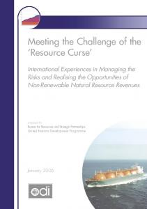Meeting the challenge of the resource curse - Overseas ...