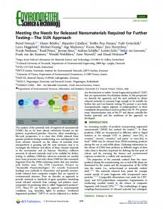 Meeting the Needs for Released Nanomaterials Required for Further ...