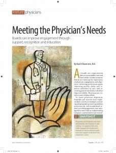 Meeting the Physician's Needs - Dr. Alan Rosenstein