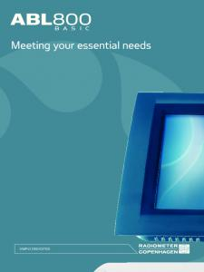 Meeting your essential needs - Medical Science Service