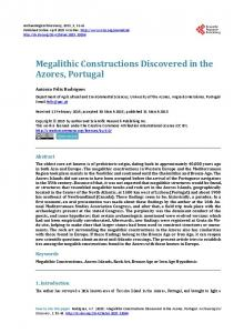 Megalithic Constructions Discovered in the Azores, Portugal