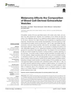 Melanoma Affects the Composition of Blood Cell ... - Semantic Scholar