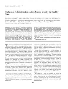 Melatonin Administration Alters Semen Quality ... - Wiley Online Library