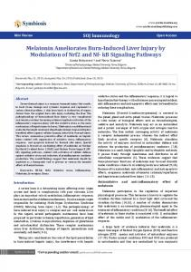 Melatonin Ameliorates Burn-Induced Liver Injury by Modulation of Nrf2