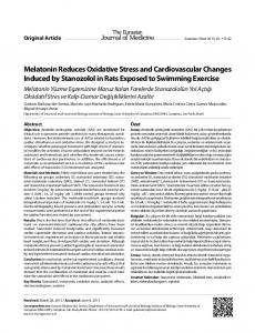 Melatonin Reduces Oxidative Stress and
