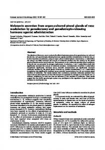 Melatonin secretion from organ-cultured pineal glands of rats ...