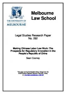 Melbourne Law School - SSRN papers
