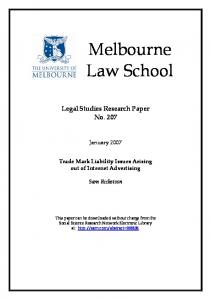 Melbourne Law School - SSRN