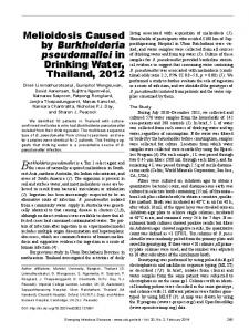 Melioidosis Caused by Burkholderia pseudomallei in ... - BioMedSearch