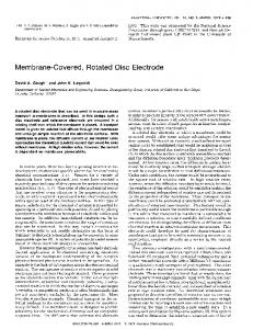 Membrane-Covered, Rotated Disc Electrode - ACS Publications