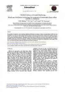 Membrane Distillation Technology for Treatment of ... - ScienceDirect