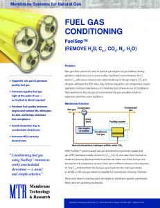 Membrane Fuel Gas Conditioning Package - Membrane Technology ...
