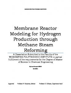 Membrane Reactor Modeling for Hydrogen ...
