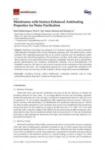 Membranes with Surface-Enhanced Antifouling Properties for ... - MDPI
