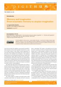 Memory and imagination From traumatic memory to utopian imagination