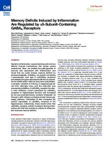 Memory Deficits Induced by Inflammation Are Regulated by α5