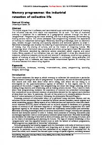 Memory programmes - Open Research Exeter - University of Exeter