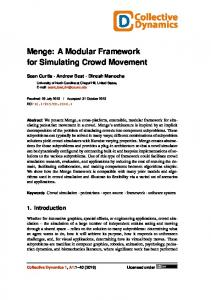 Menge: A Modular Framework for Simulating Crowd Movement