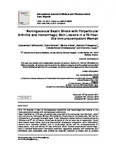 Meningococcal Septic Shock with Polyarticular Arthritis and