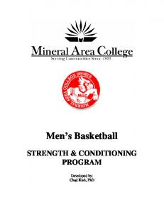 Men's Basketball Strength & Conditioning Program - Mineral Area ...