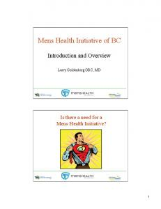 Mens Health Initiative of BC - UBC Urology Rounds