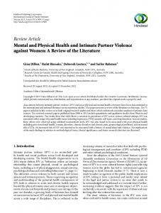 Mental and Physical Health and Intimate Partner Violence against