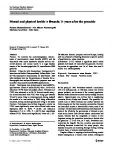 Mental and physical health in Rwanda 14 years after ...