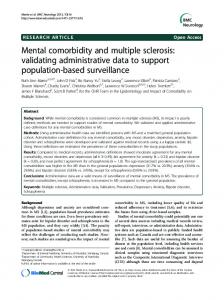 Mental comorbidity and multiple sclerosis: validating ... - BioMedSearch