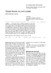 Mental disorder in youth suicide - Wiley Online Library