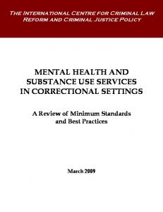 MENTAL HEALTH AND SUBSTANCE USE SERVICES IN ... - ICCLR