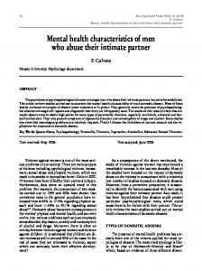 Mental health characteristics of men who abuse