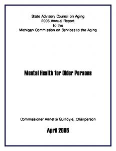 Mental Health for Older Persons - Michigan
