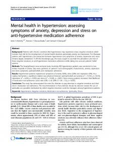 Mental health in hypertension: assessing