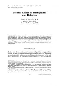 Mental Health of Immigrants and Refugees - CiteSeerX