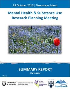 Mental Health & Substance Use Research Planning ...