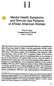 Mental health symptoms and service utilization ...