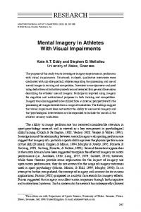 Mental Imagery in Athletes With Visual Impairments