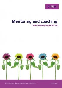 Mentoring and Coaching - CIMA