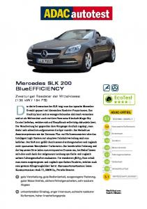 Mercedes SLK 200 BlueEFFICIENCY - ADAC