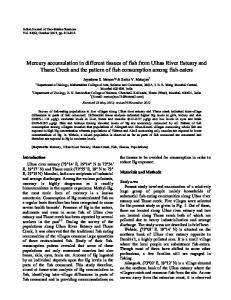 Mercury accumulation in different tissues of fish from Ulhas ... - NOPR