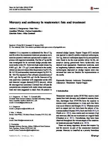 Mercury and antimony in wastewater: fate and treatment