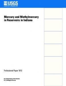 Mercury and methylmercury in reservoirs in Indiana