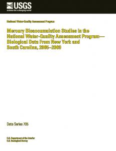 Mercury Bioaccumulation Studies in the National Water-Quality ...