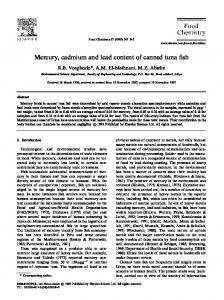 Mercury, cadmium and lead content of canned ... - Semantic Scholar