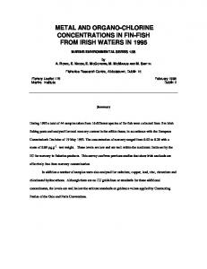 Mercury concentrations in fish from Irish Waters in 1993 - CiteSeerX